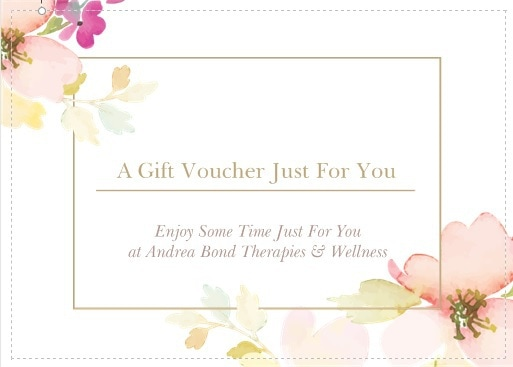 gift voucher Andrea Bond Therapies and wellness